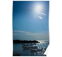Rowboats in Cinque Terre Poster