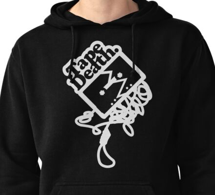 Tape Death Noose - White Pullover Hoodie
