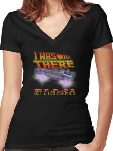 I was there ... variant Women's Fitted V-Neck T-Shirt