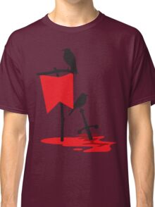 Black crows standing vigil on a blood red battlefield Classic T-Shirt