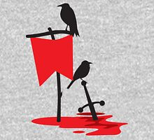 Black crows standing vigil on a blood red battlefield Unisex T-Shirt
