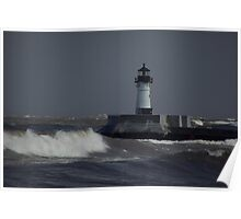 Choppy Waters Lighthouse Poster