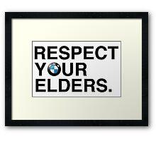 Respect your elders BMW Framed Print