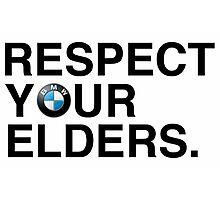 Respect your elders BMW Photographic Print