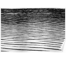 Ripples on a Lake - Black and Grey Poster