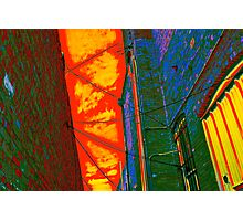 Alley of the Red Night Photographic Print