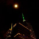 Full Moon Over Times Square, NYC by RonnieGinnever
