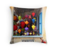 Lanterns, Vietnam Throw Pillow