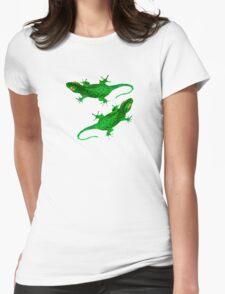 2 green geckos Womens Fitted T-Shirt