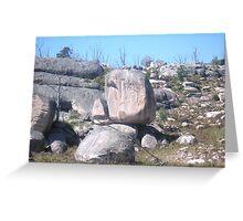 Granite boulders Greeting Card