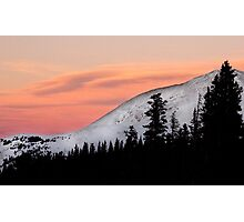Sunset on the Ten Mile Range, Summit County, Colorado Photographic Print