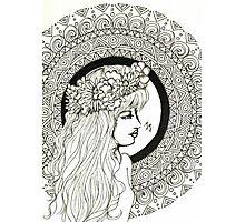 Mandala Girl Photographic Print