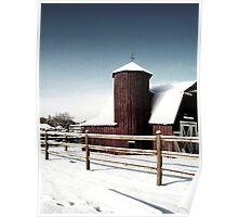Country Snowfall Poster