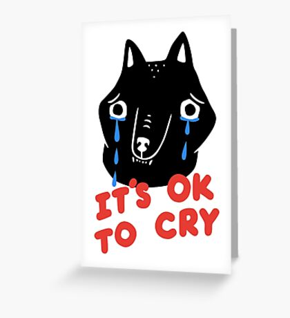 Cry, Wolf Greeting Card
