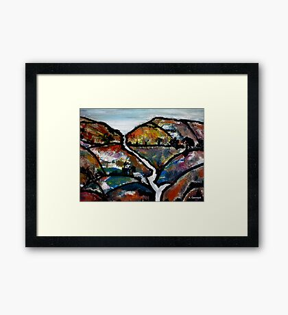 Landscape - Abstract Collage 2011 Framed Print