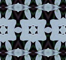 SKY BLUE LATTICE: Kaleider pattern 02 by Dayonda