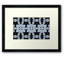 SKY BLUE LATTICE: Kaleider pattern 02 Framed Print