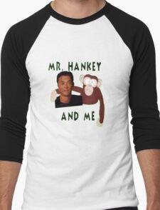 Mr. Hankey and Me Men's Baseball ¾ T-Shirt