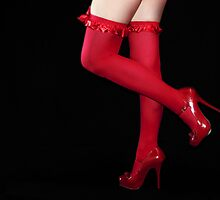Red Stockings01 by Svetlana Sewell