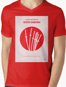 No200 My The Seven Samurai minimal movie poster Mens V-Neck T-Shirt