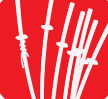 No200 My The Seven Samurai minimal movie poster Sticker