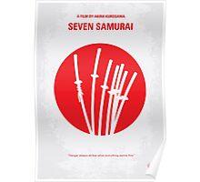 No200 My The Seven Samurai minimal movie poster Poster