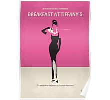 No204 My Breakfast at Tiffanys minimal movie poster Poster