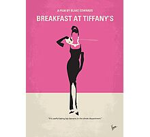 No204 My Breakfast at Tiffanys minimal movie poster Photographic Print
