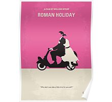No205 My Roman Holiday minimal movie poster Poster