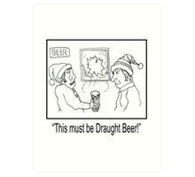 Funny Pub Cartoon. Art Print