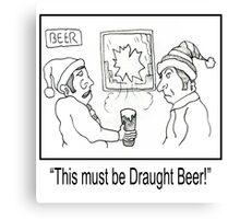 Funny Pub Cartoon. Canvas Print