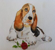 Basset Puppy with Love by dennysart