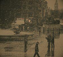 Raining at Trafalgar by ElsieBell
