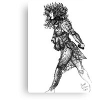 Walk tall [Pen Drawn Figure Illustration] Canvas Print