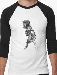 Walk tall [Pen Drawn Figure Illustration] Men's Baseball ¾ T-Shirt