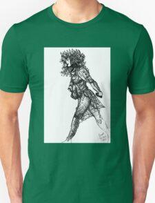 Walk tall [Pen Drawn Figure Illustration] Unisex T-Shirt