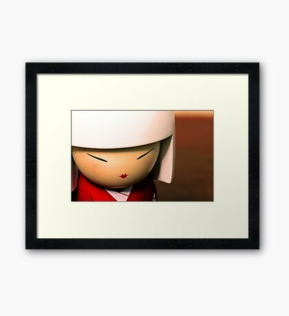 China Doll in red Framed Print