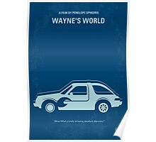 No211 My Waynes World minimal movie poster Poster