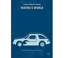 No211 My Waynes World minimal movie poster Photographic Print