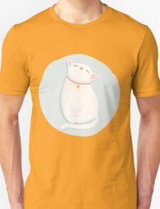 Cat White Unisex T-Shirt