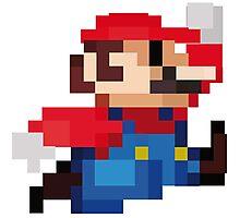 Mario 8 Bits Photographic Print