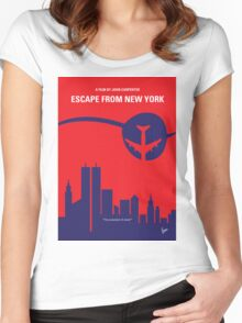 No219 My Escape from New York minimal movie poster Women's Fitted Scoop T-Shirt