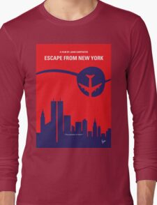 No219 My Escape from New York minimal movie poster Long Sleeve T-Shirt