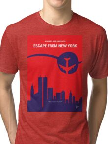 No219 My Escape from New York minimal movie poster Tri-blend T-Shirt