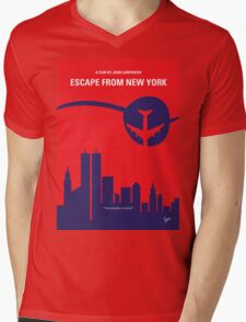 No219 My Escape from New York minimal movie poster Mens V-Neck T-Shirt