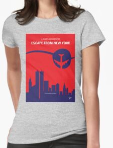 No219 My Escape from New York minimal movie poster Womens Fitted T-Shirt