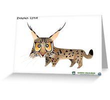 Eurasian Lynx Greeting Card