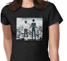 City on fire Womens Fitted T-Shirt