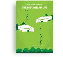 No226 My The Meaning of life minimal movie poster Canvas Print