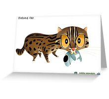 Fishing Cat Greeting Card